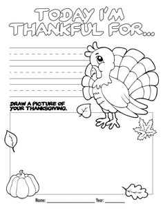 Free Thanksgiving Coloring Page!  Perfect activity to do while traveling or at the kids' table!