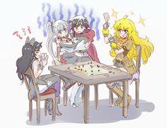 RWBY Watching them play that board game was funny! Fanart Rwby, Rwby Anime, Rooster Teeth, Yuri Anime, Anime Art, Anime Girlxgirl, Luxray Pokemon, Rwby White Rose, Rwby Bumblebee