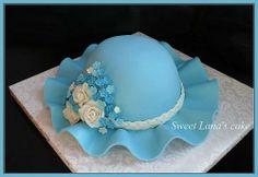 торт-шляпа Cake Decorating With Fondant, Cake Decorating Techniques, Cake Decorating Tutorials, Cake Icing Tips, Fondant Cakes, Pretty Cakes, Beautiful Cakes, Buttercream Birthday Cake, 90th Birthday Cakes