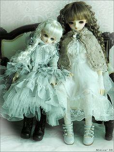 Angela and Martina by MiriamBJDolls, via Flickr