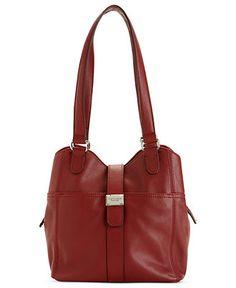 Super cute Tignanello Handbag, On My Tab Shopper! Take it in glam red for your holiday attire!
