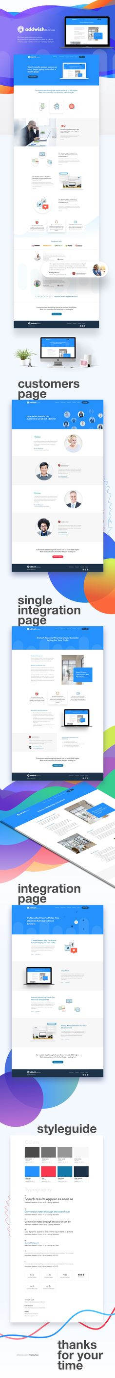 Addwish landing page behance 2