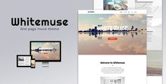 Whitemuse - One Page Muse Theme (Creative)