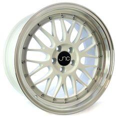 JNC005 17x9.5 - 5x120 - et32 - White Machined Lip