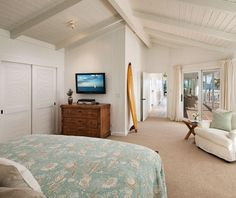 The master bedroom has a private ocean view patio.