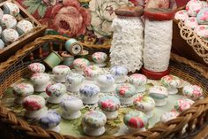 Decoupage Cath Kidston Drawer Pulls Knobs and Vintage Lace on Industrial Spools www.facebook.com/greygoosestudio www.greygoosestudio.blogspot.com.au www.greygoosestudio.com Drawer Pulls And Knobs, Knobs And Handles, Vintage Lace, Vintage Shops, Diy And Crafts, Arts And Crafts, Cheap Cabinets, Diy Ideas, Craft Ideas