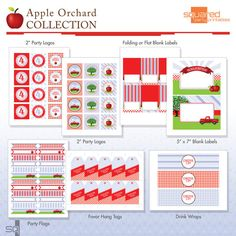 Apple Orchard Birthday Printable Party Package - DIY - Do-It-Yourself - Fall Harvest via Etsy
