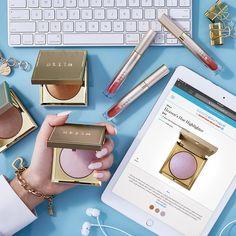 Shop for Heaven's Hue Highlighter by Stila Beauty Boutique, Top Coat, Saturday Night, Fragrance, Sparkle, Skin Care, Shoulder Bag, Makeup