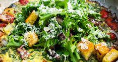 Une recette de frittata à cuisiner sur le BBQ accompagnée de légumes grillé et de fromage Comté : un délice végétarien qui se cuisine pour le brunch ou le lunch!