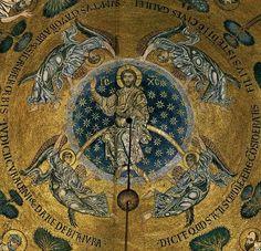 Basilique Saint-Marc Venise mosaïque de l'Ascension (coupole) 1175-1200