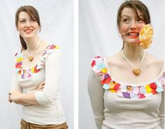 This page has 99 ways to refashion a t-shirt.