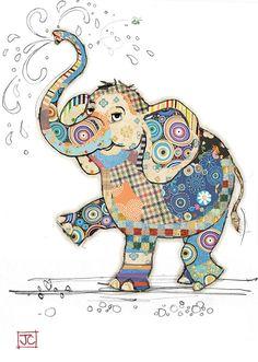 Kooks – Bug Art Designed by Jane Crowther Embossed with gold foil. Applique Patterns, Applique Quilts, Quilt Patterns, Quilting Ideas, Elephant Quilts Pattern, Art Quilting, Patchwork Quilting, Pintura Graffiti, Motifs D'appliques