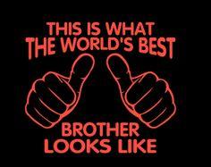 Men's t-shirt. Big brother t-shirt. I'm the world's best brother. Men's t-shirt. T-shirt for men. Little brother t-shirt