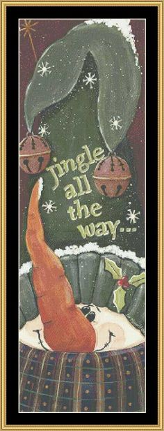 Jingle All The Way [JM-52] - $16.00 : Mystic Stitch Inc, The fine art of counted cross stitch patterns