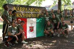 Kappa Sigma fraternity hosts an annual Hawks for Heroes event on the Lycoming Hall lawn to benefit the Fisher House Foundation. The brothers accept donations for a free haircut, Mohawk, shaves, buzz cut … you name it. The Fisher House Foundation is a private-public partnership aiding the American military personnel when they need it the most. #BUGreekLife