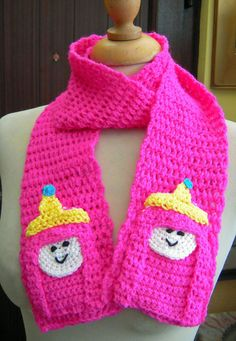 Crochet Princess Bubblegum from Adventure Time por twixtseaandpine, $25.00