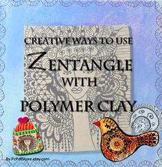 Polymer Clay PDF tutorial - Zentangle Art