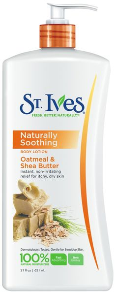 Ives Naturally Soothing Body Lotion Oatmeal & Shea Butter Body LotionLong-lasting relief from dry, itchy skin. Shea Butter Body Lotion, Best Lotion, Thing 1, St Ives, Body Lotions, Skin Cream, Organic Skin Care, Body Care, Face Care