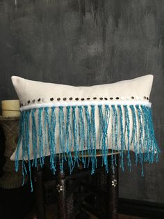 Turquoise Teal Moroccan Wedding Blanket Pillowcase Cover
