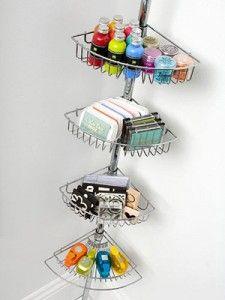 Bath caddy as storage in craft or playroom