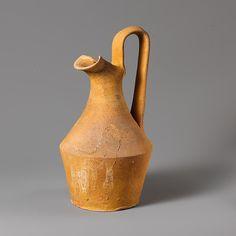 Terracotta oinochoe (jug), Terracotta, Greek, South Italian, Apulian  OINOCHOE 3 BC (Hellenistic Period)