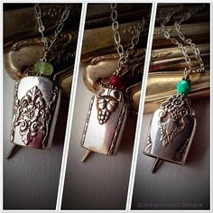 Antique Dinner Knife Handle Bell Pendant Necklaces...made from old dinner knives