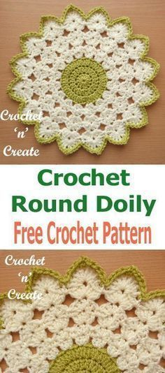 Crochet Doilies 94187 Crochet Round Doily Free Crochet Pattern - Crochet 'n' Create Gilet Crochet, Crochet Dishcloths, Crochet Coaster, Free Crochet Doily Patterns, Crochet Designs, Free Pattern, Tatting Patterns, Crochet Dollies, Crochet Flowers