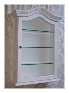 White Wall Cabinet - Perfect for figurines or nail polish