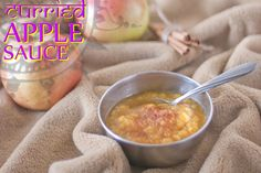 Curried Apple Sauce is a fun twist on the traditional dish. It's amazing how big a difference a little spice can make to a fruit dish. Paleo Sauces, Paleo Recipes, Free Recipes, Fruit And Veg, Fruits And Veggies, Paleo Baking, Paleo Food, Curry Spices, Fruit Dishes