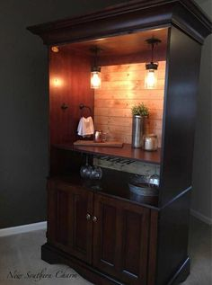 Items similar to Custom Armoire Bar Cabinet, Coffee Station, Wine Cabinet, Rustic Bar, Repurposed Armiore Cabinet on Etsy Bar Furniture, Wine Cabinets, Coffee Bar Home, Refurbished Furniture, Bars For Home, Armoire Bar, Furniture, Repurposed Furniture, Redo Furniture