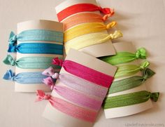 Elastic hair ties are now for sale on my blog! Only $4.50!