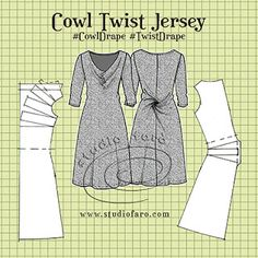 well-suited: Pattern Fundamentals - Cowl Twist Jersey