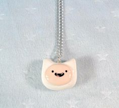 Finn of Adventure Time Charm Necklace D by aLilBitOfCute on Etsy, $9.00