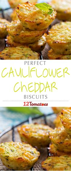 Cauliflower Cheddar Biscuits | We wanted to come up with something we could shovel into our mouths without feeling guilty…luckily, this recipe fits the bill!