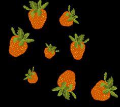 Muster-Motiv, Erdbeeren ,Stoffmuster