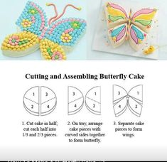 Cute and easy butterfly kids cake!