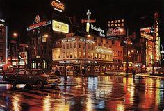 Leidseplein, the american style. Amsterdam Holland, Amsterdam City, Nostalgia, Street Image, San Francisco California, Borneo, Rotterdam, Old Photos, Night Life