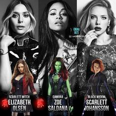 Which Marvel girl is your favorite? #scarlettwitch #gamora #blackwidow