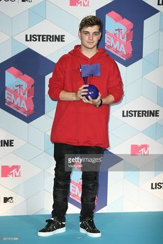 Martin Garrix poses in the winners room at the MTV Europe Music Awards 2016 on November 6, 2016 in Rotterdam, Netherlands.