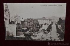Postales: ANTIGUA POSTAL DE MURCIA. PASEO DE REINA VICTORIA. CIRCULADA - Foto 1 - 43125004