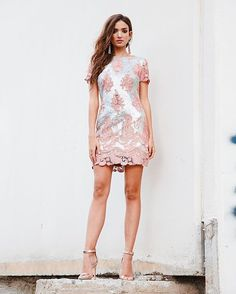 There is still time to make your sweetheart swoon for Valentine's Day! Shop the Joy dress in pink/ matte silver. Link in bio! . . . #dressthepopulation #wiw #currentlywearing #liketkit #blogger #instapretty #currentlywearing #ootd #stylish #streetstyle #pink #lace #valentinesday #vdday #stylish #ootdmagazine #stylediaries #styleblogger