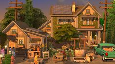 Sims 4 House Plans, Sims 4 House Building, Sims House, Play Sims 4, Sims 4 House Design, Architecture Building Design, Sims 4 Build, Cabin Homes, Sims Cc