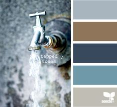 Can't decide which blue-ish color scheme to use in my office/craft room... bear with me!