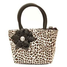 Love Flora & Fauna? Check out this Floral & #Leopard-print #handbag from Pellini