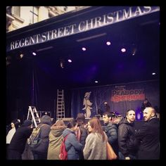 Backstage at #RegentStreet #ChristmasLights