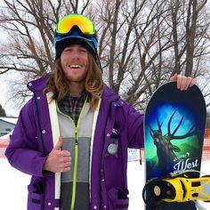 Connor Clarke, Snowboarder, 2016 Teton Valley Skijoring, Driggs, Idaho Photo ©2016 Skijor International, LLC