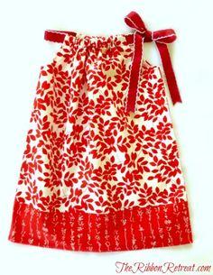 Pillowcase Dress Tutorial - TheRibbonRetreat.com #diy