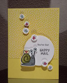 Snail Cards, Simple Card Designs, Kids Birthday Cards, Stamping Up Cards, Christmas Cards To Make, Animal Cards, Card Tutorials, Scrapbook Cards, Scrapbooking