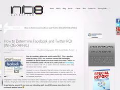 How to determine Facebook and Twitter ROI from Initi8 Marketing@http://howtousetwitterfordummies.com/