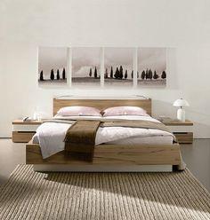 light wood bed frame